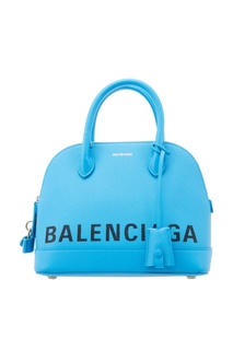 Голубая сумка с логотипом Ville small Balenciaga