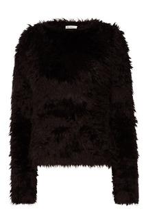 Черный джемпер с фактурной отделкой Balenciaga