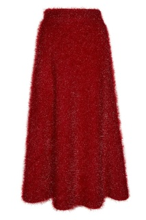 Красная фактурная юбка миди Alena Akhmadullina
