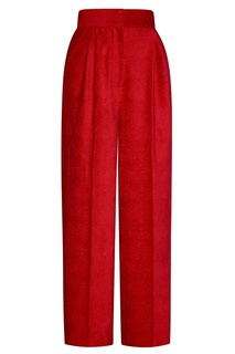 Фактурные красные брюки Alena Akhmadullina