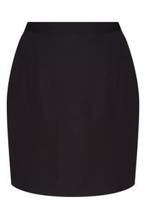 Черная юбка мини с драпировкой Alessandra Rich