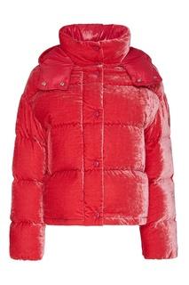 Розовая бархатная куртка Moncler