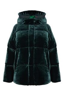 Бархатная зеленая куртка Moncler