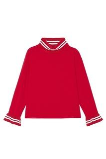 Красная блузка с контрастной отделкой Mila Marsel