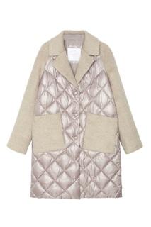 Стеганое пальто с фактурной отделкой Mila Marsel