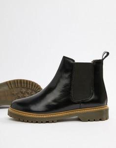 Черные кожаные ботинки челси Office Ali - Черный