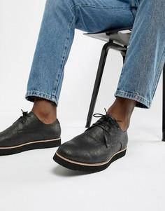 Туфли из искусственной крокодиловой кожи на шнуровке Truffle Collection - Серый