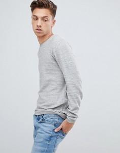 Легкий меланжевый джемпер с необработанным воротом Tokyo Laundry - Серый