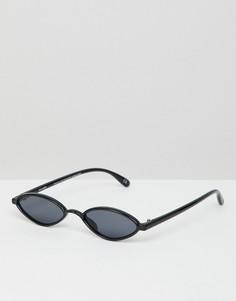 Овальные солнцезащитные очки ASOS DESIGN - Черный