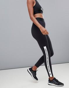 Черные леггинсы с тремя полосками adidas - Черный