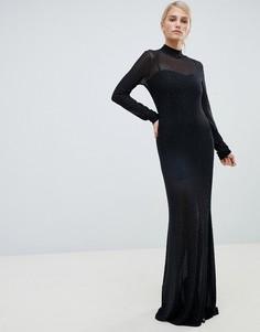 Декорированное платье макси Forever Unique - Черный