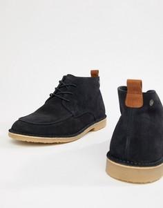 Замшевые ботинки на шнуровке Jack & Jones - Темно-синий