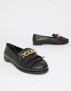 Кожаные туфли на плоской подошве Park Lane - Черный