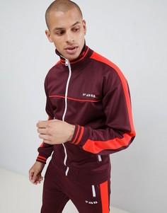 Бордовая спортивная куртка с полосками по бокам Diesel S-Roots - Красный