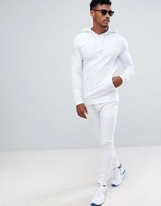 126e4492869 Спортивный костюм из облегающего худи и облегающих джоггеров ASOS DESIGN -  Белый