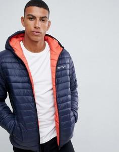 Двусторонняя дутая куртка с капюшоном Nicce - Оранжевый