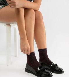 Туфли на плоской подошве для широкой стопы ASOS DESIGN Madalyn - Черный