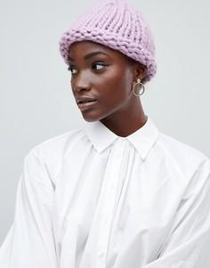 Вязаная шапка-бини Vero Moda - Фиолетовый