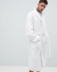 Махровый халат с логотипом Calvin Klein - Белый
