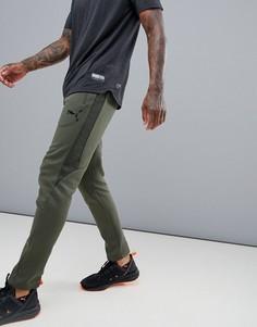 Спортивные штаны цвета хаки Puma Training EvoStripe - Зеленый
