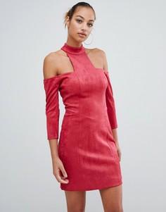 Платье мини с открытыми плечами Forever Unique - Красный