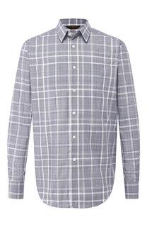 Хлопковая рубашка с воротником кент Zegna Couture