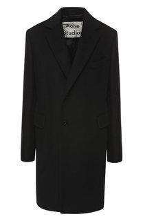 Шерстяное пальто прямого кроя Acne Studios