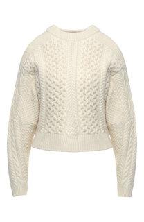Шерстяной пуловер асимметричного кроя Stella McCartney