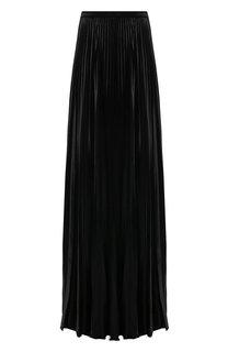 Однотонная юбка-макси в складку Saint Laurent