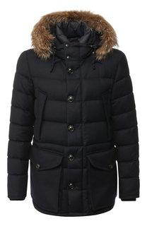 Пуховая куртка Rethe на молнии с меховой отделкой капюшона Moncler