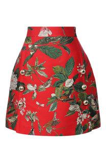 Мини-юбка с вышитым принтом Dolce & Gabbana