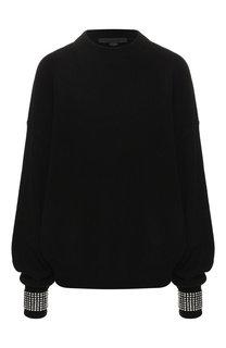 Шерстяной пуловер с декоративной отделкой Alexander Wang