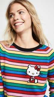 Chinti and Parker Hello Kitty Rainbow Stripe Cashmere Sweater