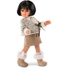 Кукла Llorens Оливия в коричневом, 37 см