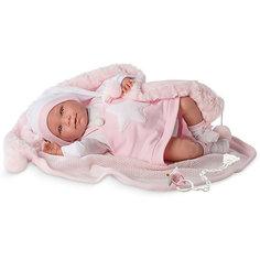 Кукла-пупс Llorens Лала в розовом сарафане 42 см, со звуком