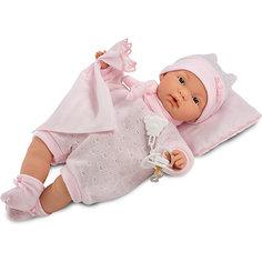 Кукла-пупс Llorens Жоель в розовом 38 см, со звуком