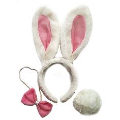 """Маскарадный набор Феникс-Презент """"Крольчонок"""" (галстук, ободок, хвостик)"""