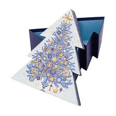 """Подарочная коробка Феникс-Презент """"Золото на синем"""""""