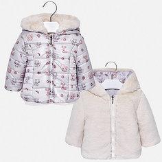 Куртка двусторонняя Mayoral для девочки