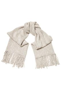 Серый шарф с бахромой Tegin