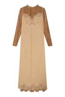 Платье макси с длинными рукавами Stella Mc Cartney