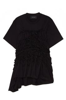 Черная футболка с отделкой Simone Rocha