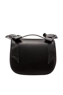 Черная кожаная сумка с бантами Simone Rocha