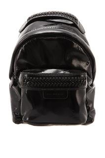 Лакированный черный рюкзак Stella Mc Cartney