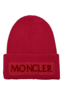 Шерстяная розовая шапка Moncler