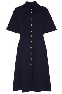 Темно-синее платье-рубашка Kuraga
