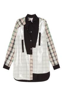 Контрастная хлопковая рубашка Loewe