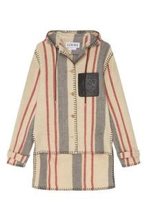 Контрастная шерстяная куртка с отделкой Loewe