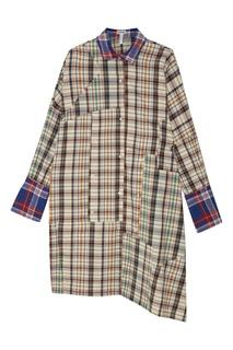 Хлопковое платье в клетку Loewe