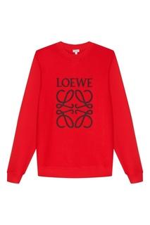Красный хлопковый свитшот Loewe